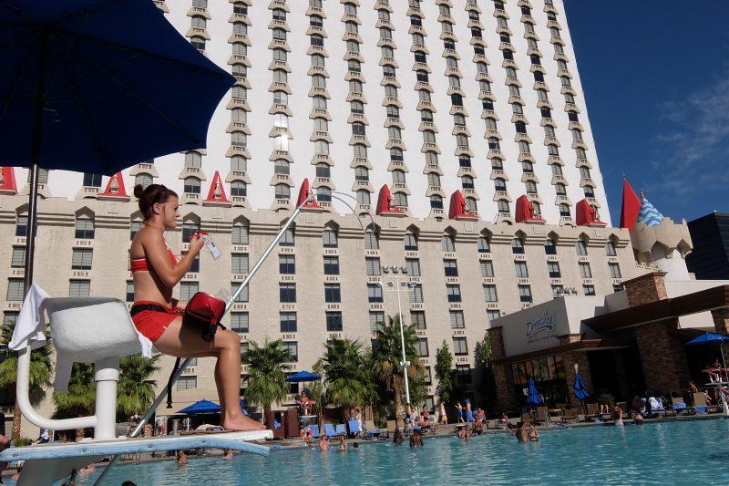Excalibur's swimming pools Las Vegas