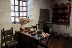 La cucina della missione di Carmel California
