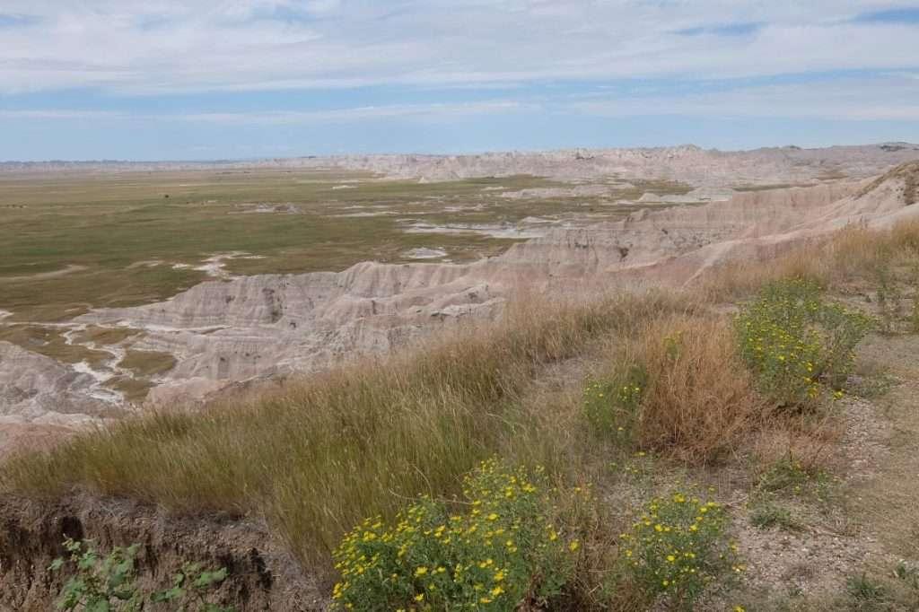 Badlands South Dakota la pianura