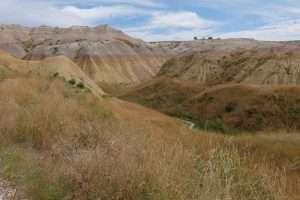Badlands arcobaleno di roccia