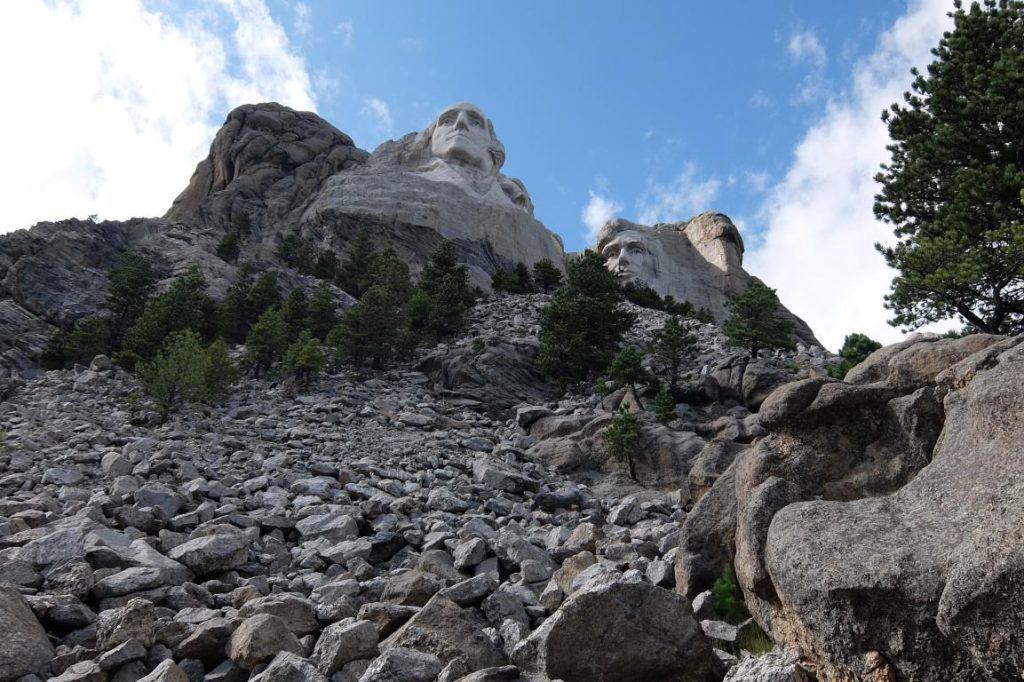 Mount Rushmore South Dakota vista dal basso