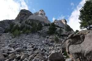 Mount Rushmore South Dakota vista dal basso