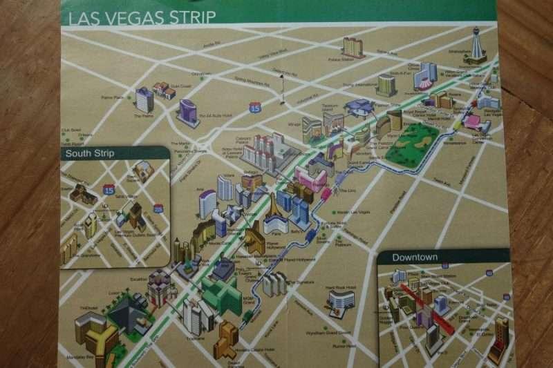 las vegas strip mappa