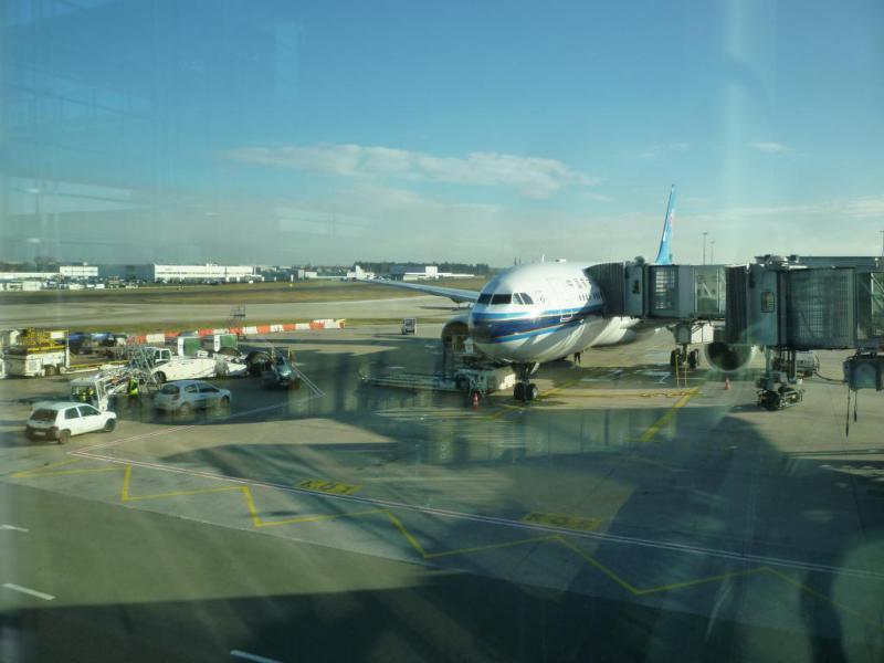 in attesa di decollare dalla francia