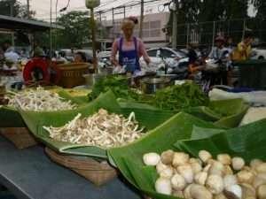 ayutthaya mercato notturno funghi