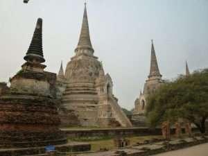 ayutthaya viharn phra mongkol bopit serie di chedi