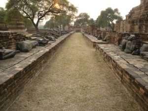 ayutthaya wat phra viale centrale del tempio
