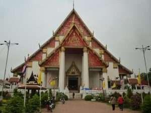 ayutthaya wat phra si sanphet facciata del tempio