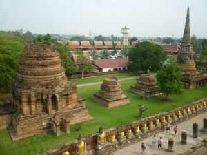 ayutthaya wat yai chai mongkol vista dall'alto