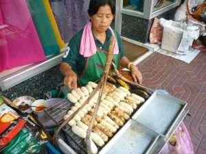 bangkok chinatown venditrice