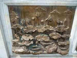 bangkok fregio in legno del tempio
