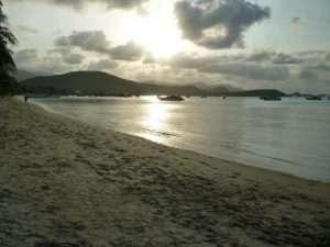 ko samui spiaggia al tramonto
