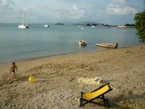 ko samui spiaggia davanti al resort