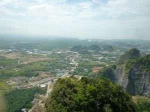 panorama in cima alla montagna