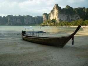railey beach long-tail boat