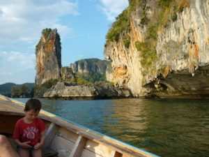 in barca a railey beach krabi