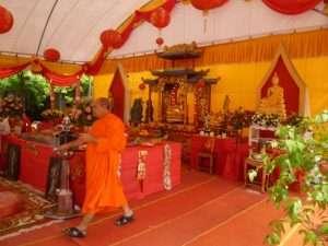 wat pho tenda preghiera dei monaci