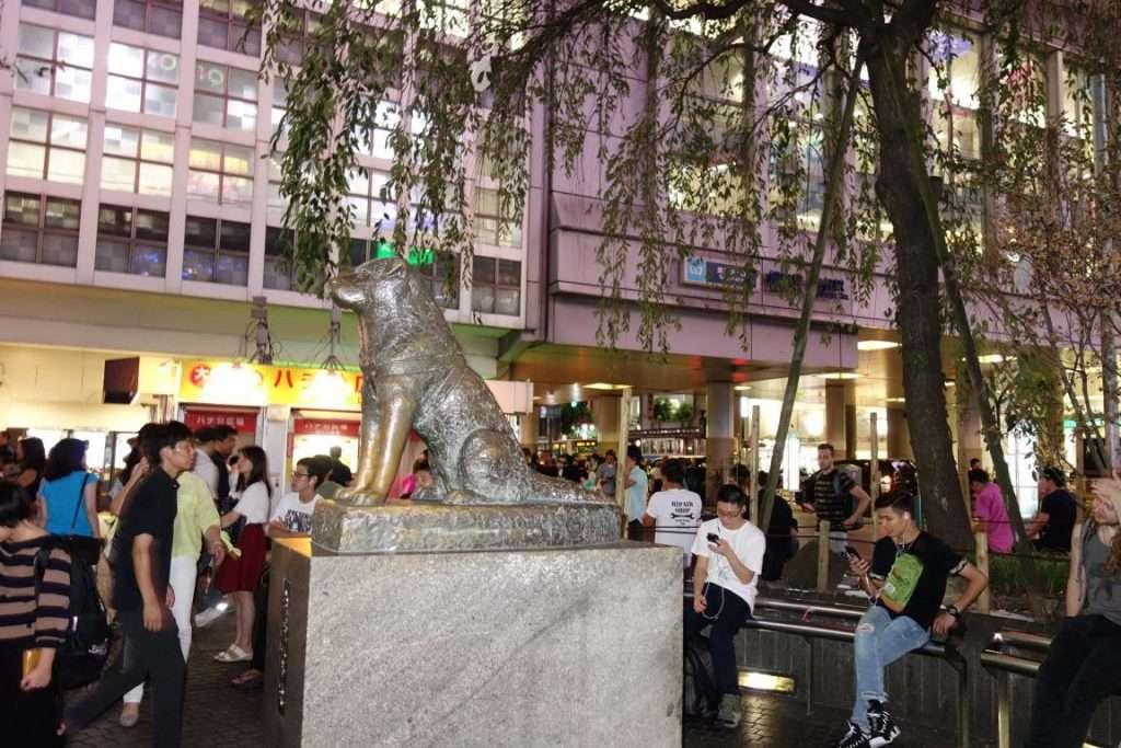 Hachiko il cane a Shibuya