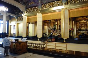 interno tempio Tsukiji Hongwanji