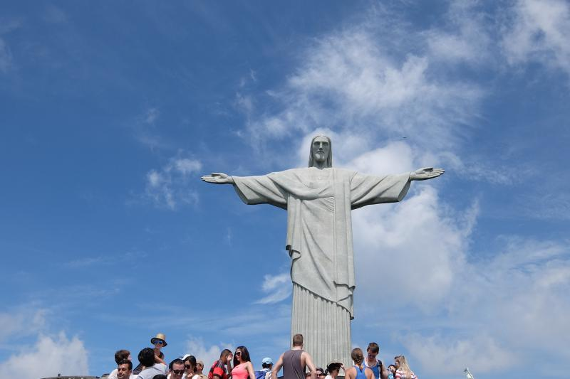 Sul Corcovado e il Cristo redentore