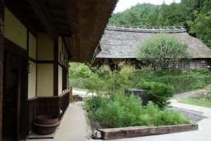 Villaggio giapponese vicino Monte Fuji