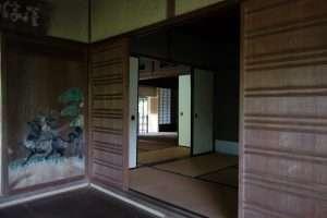 Casa da the a Yoshikien parco di Nara