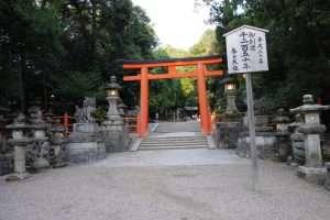 Torii rosso a Nara