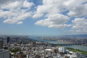 Vista su Osaka