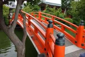 Ponte rosso a Kyoto