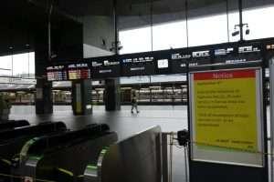 Treni soppressi a Kyoto per tifone
