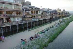 Kamo river a Kyoto