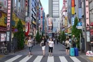 Kabukicho quartiere dei divertimenti a Tokyo
