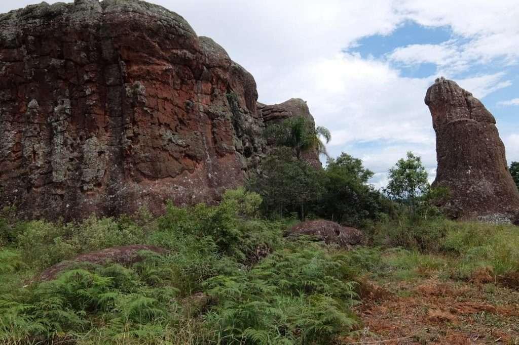 Vila Velha formazioni rocciose