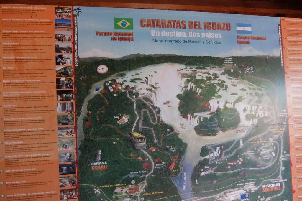 Mappa cascate Iguazu'