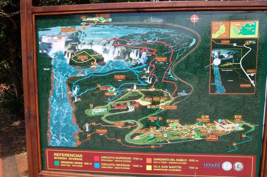 Percorsi nel parco di Iguazù