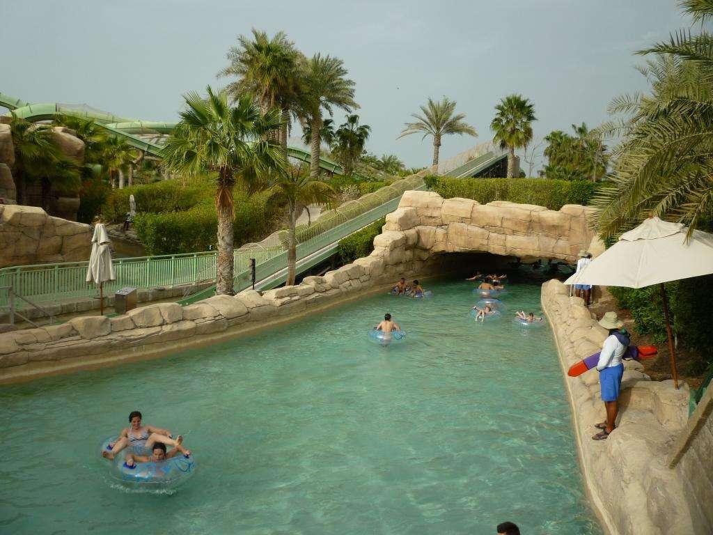 Piscine dell'aquaventure di Dubai