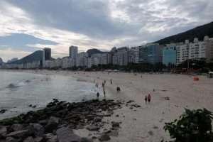 tramonto a Copacabana