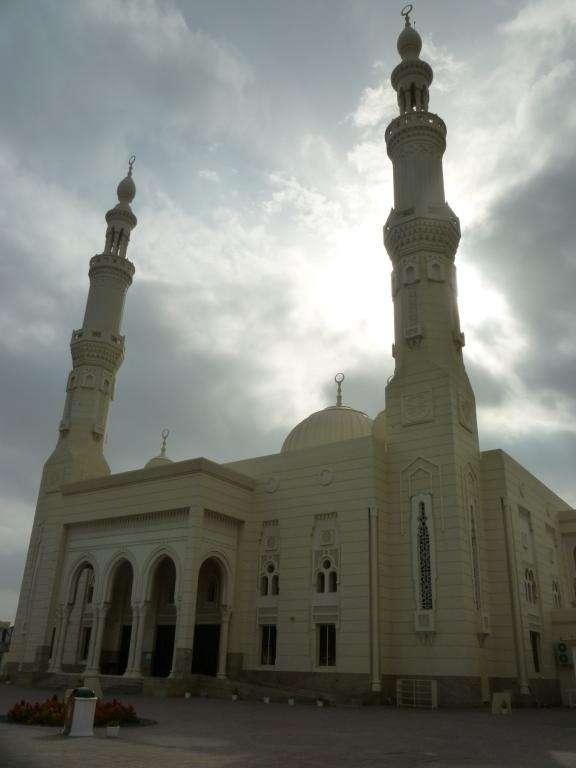 moschea al tramonto a Fujarah