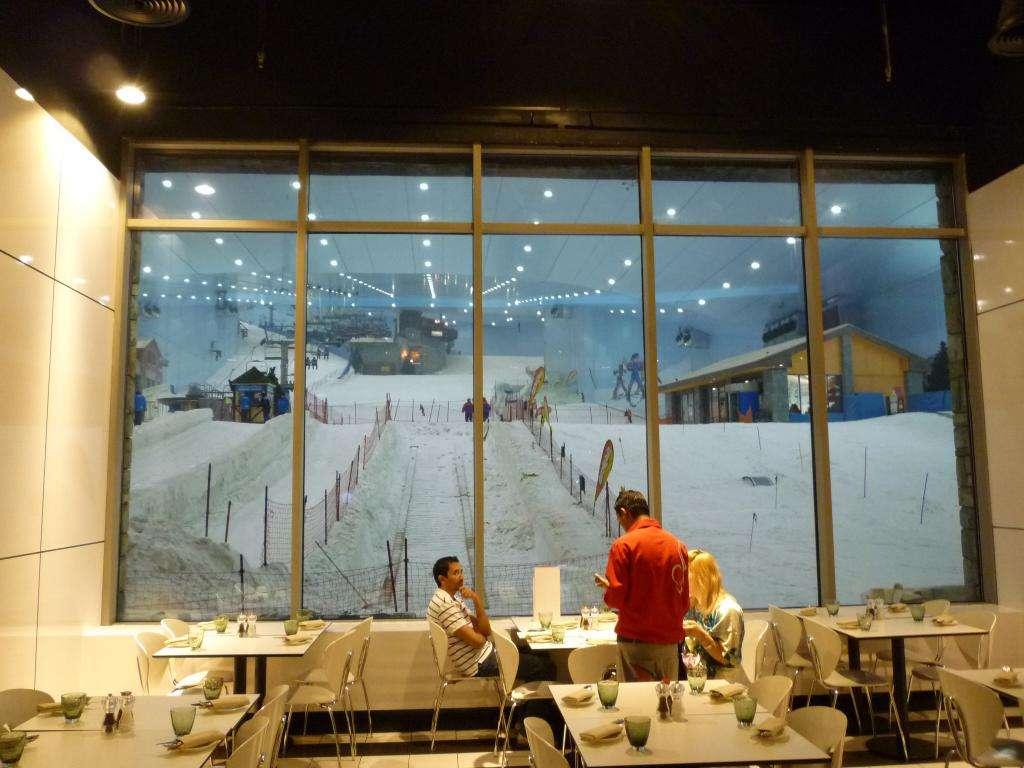 vista sulle piste da sci