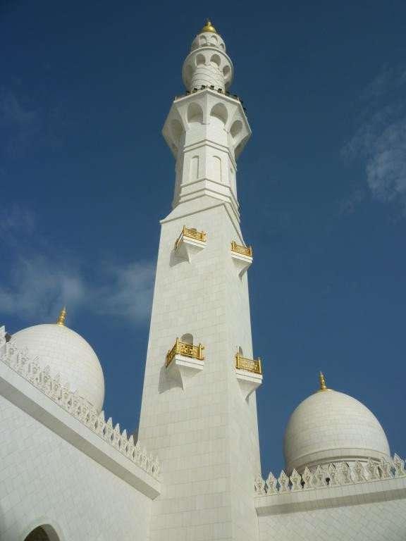 minareto della moschea di sheyk zayed