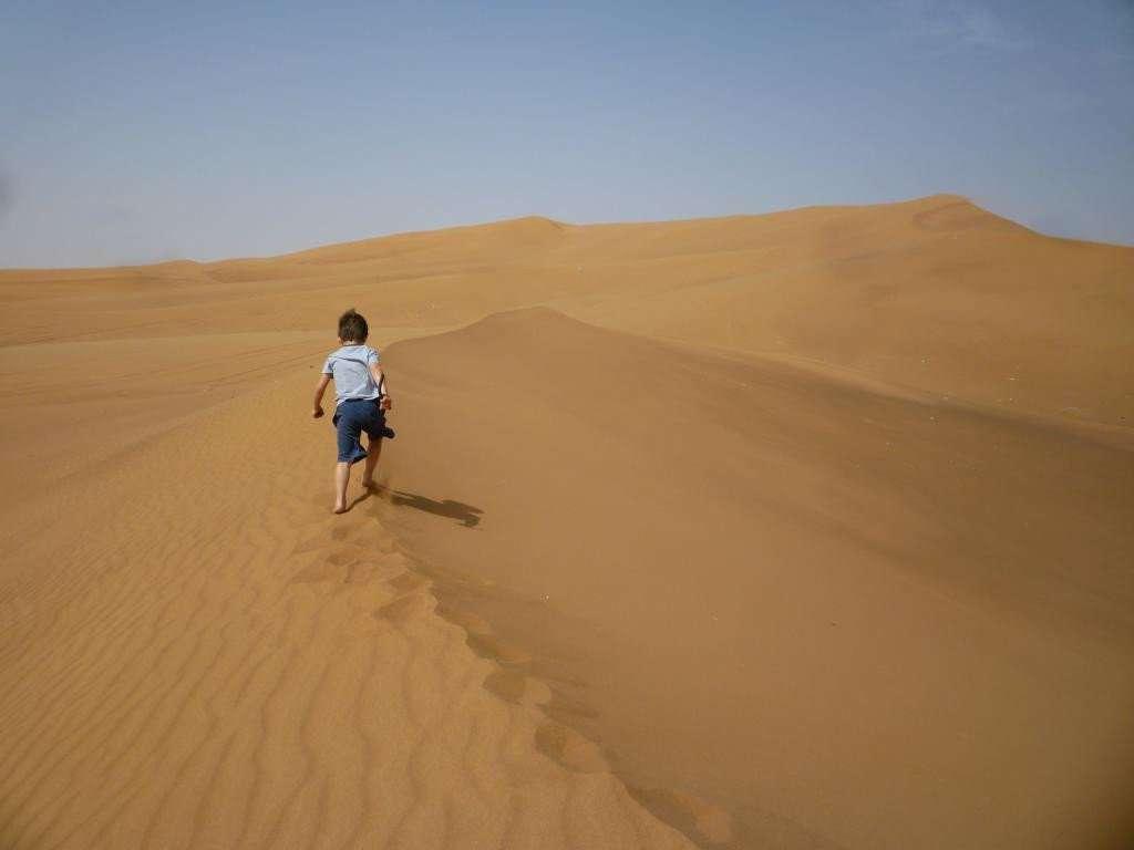 la scalata delle dune