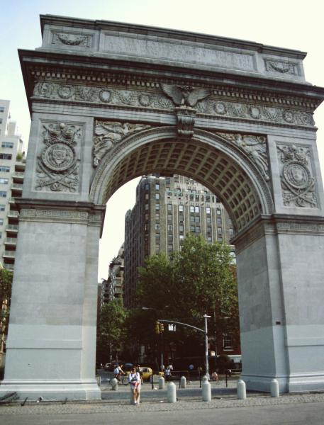 Washington square e l'arco di trionfo