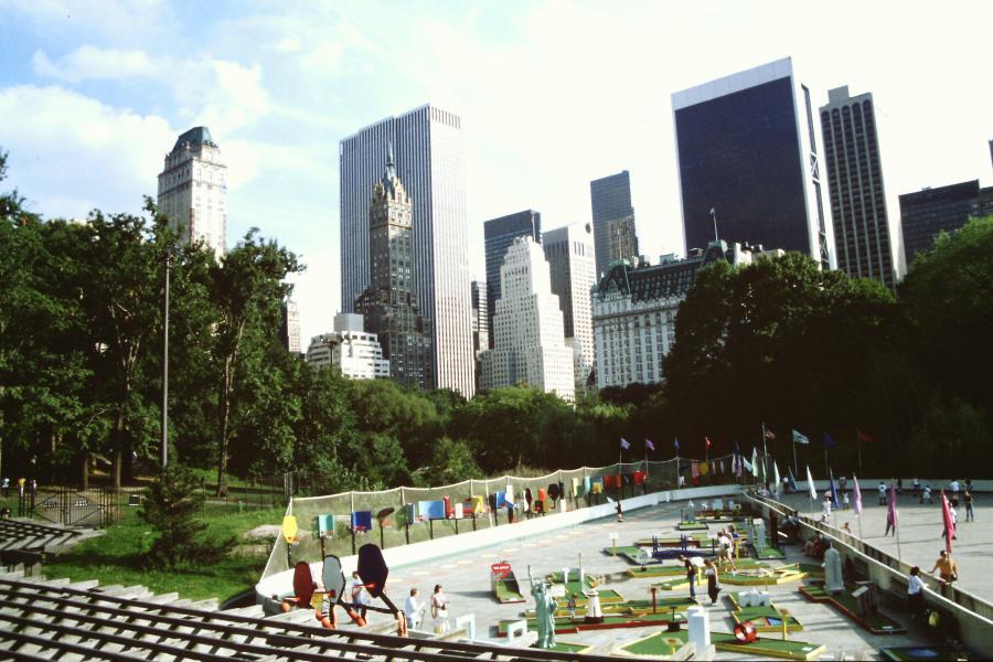 Vista sui grattacieli da Central Park