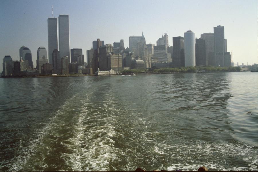 Vista sulla downtown e le Twin Towers