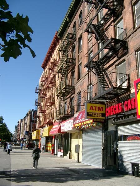 Harlem classiche case di mattoni