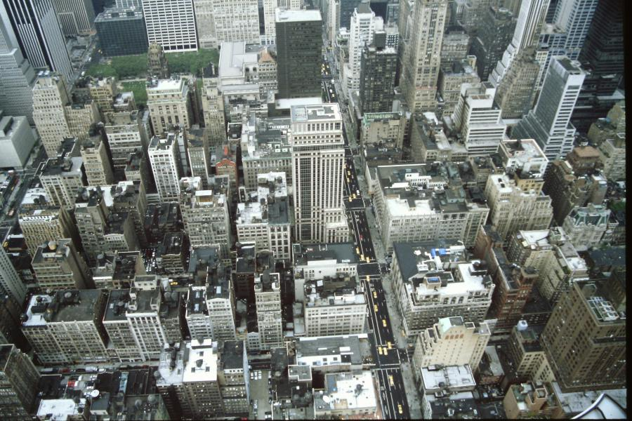 Bryant Park dall'Empire State Building