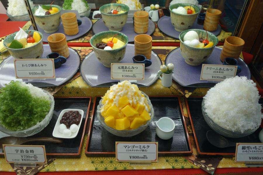 Kakigori dolce di ghiaccio giapponese