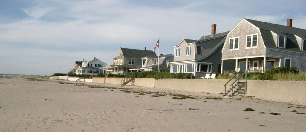 Ogunquit case sulla spiaggia