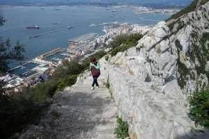 Sentiero sulla rocca di Gibilterra