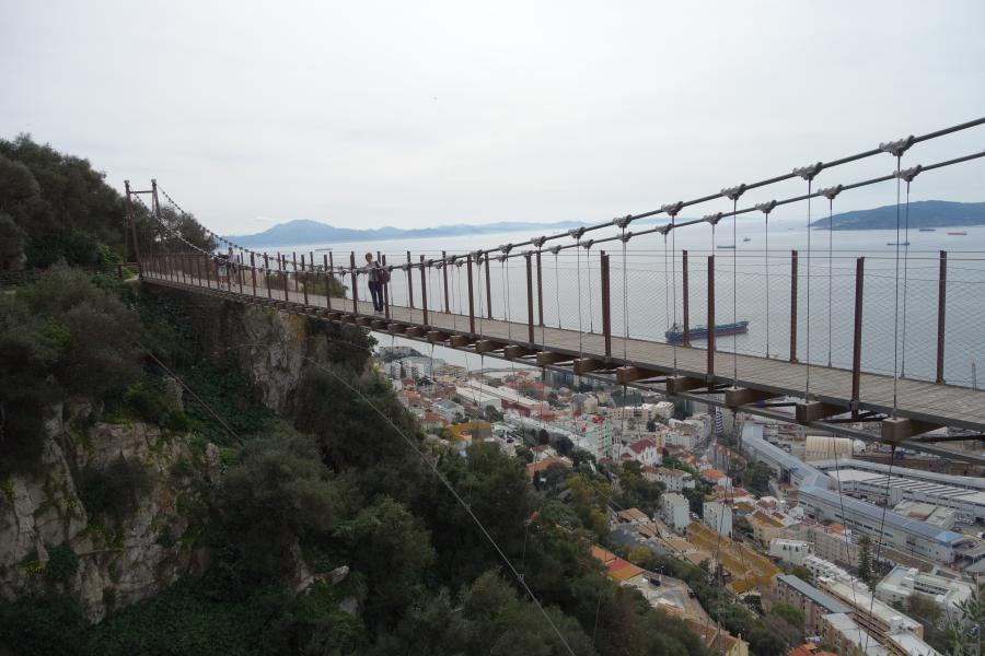 Suspension bridge a Gibilterra